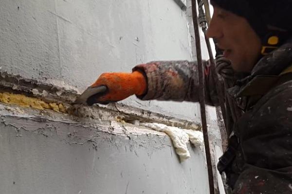 герметизация стыков между панелями зимой