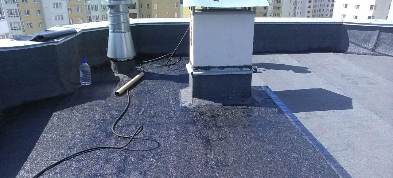 ремонт плоской крыши многоэтажного жилого дома