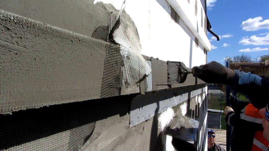 отделка мокрого фасада жилого дома